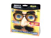 60 Units of Wind-Up Wiggly Nose & Glasses Mask - Novelty Toys