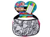 12 Units of Color Your Own Glitter Fashion Handbag with Markers - Craft Kits