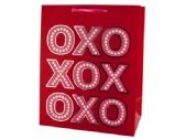 108 Units of Large Red & Pink XOXO Valentine Gift Bag