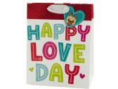 120 Units of Medium Happy Love Day Valentine Gift Bag