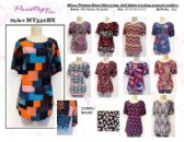 72 Units of Ladies Plus Size Short Sleeve Missy Top Assorted Prints - Womens Fashion Tops
