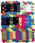 Womens Fuzzy Socks (30 Pairs) Soft Warm Winter Comfort Ankle Socks Multicolor, by excell - Womens Ankle Sock