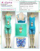 48 Units of Ladies 2 Piece PJ Set 100% Cotton Assorted Sizes