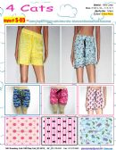 144 Units of Ladies Assorted Print 100%Cotton Shorts - Pants / Capri / Shorts