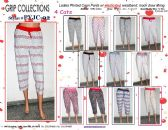 72 Units of Ladies Assorted Print 100%Cotton Lounge Capri Pants
