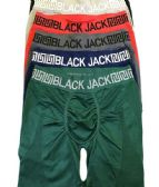 12 Units of Mens Black Jack Seamless Long Leg Boxer Brief - Mens Underwear