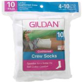 180 Units of GILDAN Womens Crew Socks Size 9-11 - Womens Crew Sock