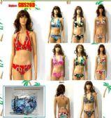 48 Units of Ladies 2 Piece Printed Bathing Suit