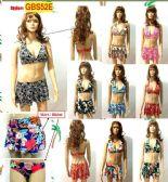 48 Units of Ladies 3 Piece Printed Bathing Suit