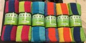 24 Units of Cabana Stripe Rolled Beach Towel 100% Cotton