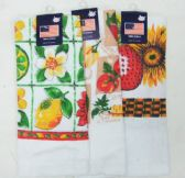 144 Units of Assorted Designs Kitchen Towels - Kitchen Towels