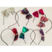 72 Units of NEW! CLOSEOUT Sequin Bow Headband - Headbands