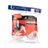 180 Units of Hanes Slightly Irregular Mens White Grey Toe Over The Calf Tube Size 6-12 - Mens Crew Socks