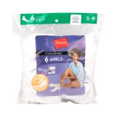 180 Units of Hanes Slightly Irregular Womens White Color Ankle Socks Size 5-9