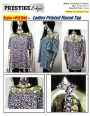 24 Units of Ladies Plus Size Floral Printed Flare Top