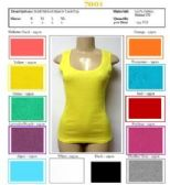 144 Units of Ladies Solid Ribbed Muscle Tank Top Camisole