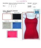 144 Units of Ladies Solid Color Tank Top / Camisole with Adjustable Straps and Sport Bra Insert SIZE XTRA LARGE - Womens Camisoles / Tank Tops