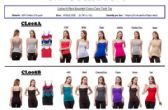 144 Units of Ladies Solid Color 6 Pack Assorted Color Camisole / Tank Top LARGE - Womens Camisoles / Tank Tops