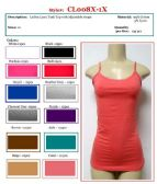 144 Units of Ladies Plus Size Solid Color Lycra Tank Tops / Camisole with Adjustable Straps Size 1X - Womens Camisoles / Tank Tops