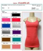 144 Units of Ladies Plus Size Solid Color Lycra Tank Tops / Camisole with Adjustable Straps Size 2X - Womens Camisoles / Tank Tops