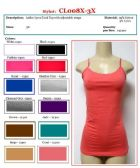 144 Units of Ladies Plus Size Solid Color Lycra Tank Tops / Camisole with Adjustable Straps Size 3X - Womens Camisoles / Tank Tops