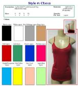 144 Units of Ladies Solid Color V-Neck Tank Tops / Camisole with Adjustable Straps - Womens Camisoles & Tank Tops