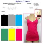 144 Units of Ladies Solid Color V-Neck Tank Tops / Camisole with Adjustable Straps LARGE - Womens Camisoles / Tank Tops