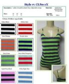96 Units of Ladies Plus Size Striped Tank Tops / Camisole with Adjustable Straps