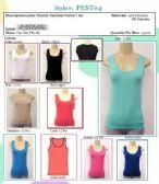 144 Units of Ladies Seamless Muscle Tee Tank Top
