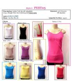 144 Units of Ladies Seamless Solid Color Camisole / Tank Top with Ribbed Sides