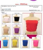 144 Units of Ladies Solid Color Seamless Long Tube Top