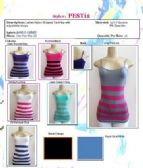 96 Units of Ladies Seamless Striped Camisole / Tank Top