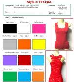 144 Units of Ladies Solid Color Lace Back Tank Top Size LARGE