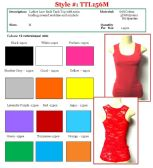 144 Units of Ladies Solid Color Lace Back Tank Top Size MEDIUM