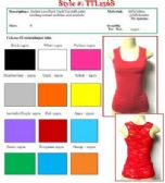 144 Units of Ladies Solid Color Lace Back Tank Top Size SMALL