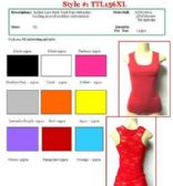 144 Units of Ladies Solid Color Lace Back Tank Top Size XTRA LARGE