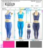 48 Units of Ladies 2 Piece Space Dye Crop Top Active Wear Assorted Colors