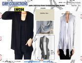 24 Units of Ladies Solid Color Long Sleeve Cardigan with Patch Pockets