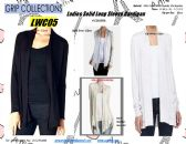 24 Units of Ladies Solid Color Long Sleeve Cardigan