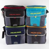 24 Units of Cooler 30 Can W/shoulder Strap Insulated 4 Asst Colors Collapsible - Cooler & Lunch Bags
