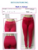 48 Units of Ladies Stretch Fashion Pants with Front Buttons