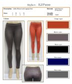 72 Units of Ladies Stretch Fashion Shiny Look Legging Pants
