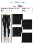 48 Units of Ladies Fashion Leggings Pants with Shiny Finish in Back