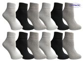 12 Units of Yacht & Smith Women's Assorted Color Quarter Ankle Sports Socks, Size 9-11 - Womens Ankle Sock