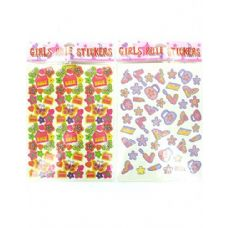 """36 Units of """"Girls Rule"""" stickers"""