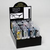 144 Units of Reading Glasses Color Frame 36 Ct Clear Tubes Counter Display