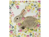 120 Units of Bunny Floral Gift Bag with Tag - Gift Bags