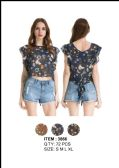 36 Units of Women's Floral Shirt With Bow - Womens Fashion Tops