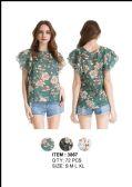 36 Units of Women's Floral Fashion Shirt - Womens Fashion Tops