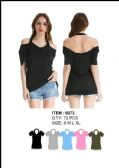 36 Units of Women's Off the Shoulder Shirts - Womens Fashion Tops